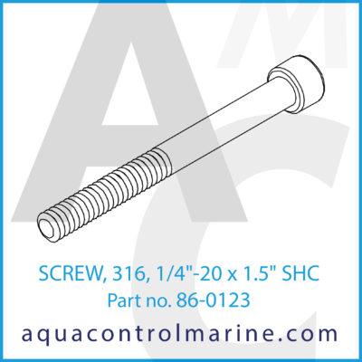 "SCREW 326 1/4""-20 X 1.5"" SHC"