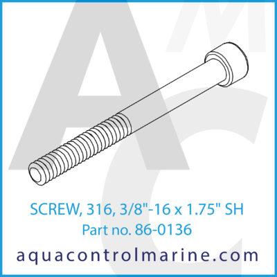 "SCREW 316 3/8""-16 X 1.75"" SH"