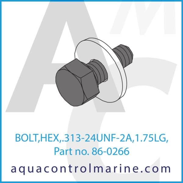 BOLT,HEX,.313-24UNF-2A,1.75LG,