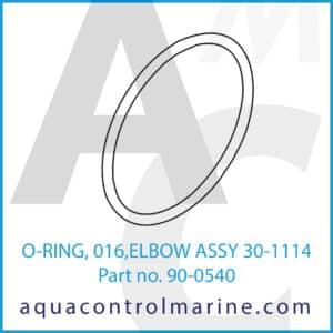 O-RING, 016,ELBOW ASSY 30-1114