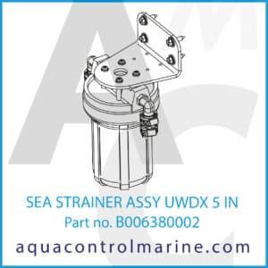 SEA STRAINER ASSY UWDX 5 IN