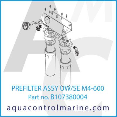 PREFILTER ASSY UW-SE M4-600