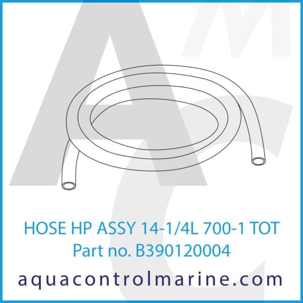 HOSE HP ASSY 14-1_4L 700-1 TOT