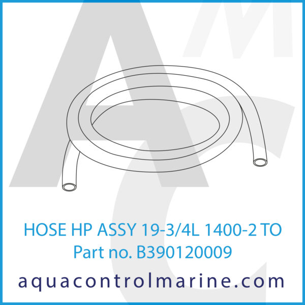 HOSE HP ASSY 19-3_4L 1400-2 TO