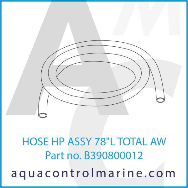 HOSE HP ASSY 78inch L TOTAL AW