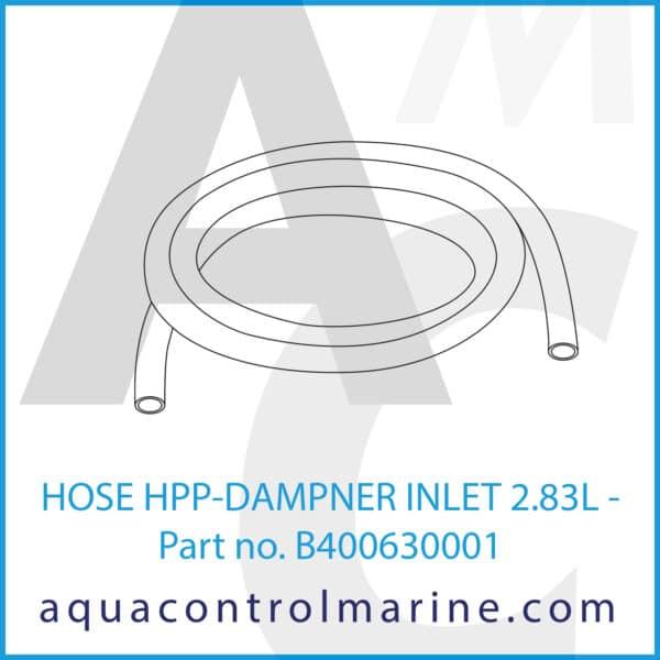 HOSE HPP-DAMPNER INLET 2.83L