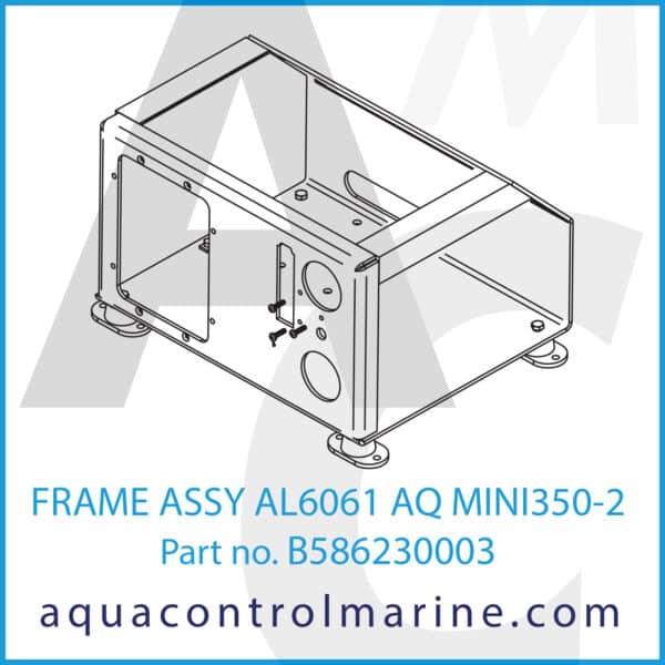 FRAME ASSY AL6061 AQ MINI350-2