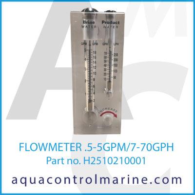 FLOWMETER .5 5GPM 7-70GPH